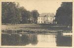 Anonyme photo carte sans légende château de Maffle - avec étang devant