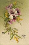 TSN 761 [fleurs blanche-rose et roses et mimosas]