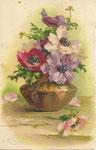GOM 1818 vase brun d'anémones