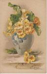 GOM 1818 vase gris de primevères