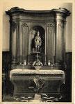 Houtaing NELS, Ern. Thill Houtaing (Ath) Autel et statue de Saint Quirin (XVII siècle).