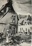 Ath ALBERT - Delzenne ATH La Petite Rue des Bouchers Aquarelle de Jean Lejour