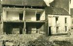 Ath Anonyme [photo-carte allemande - dégâts rue de Dendre 24.4.1917]