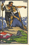 BACHTIGER August Meinrad Suisse (1888 -1971) propagande