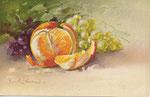 TSN 1634 [orange découpée avec raisins noirs et blancs]