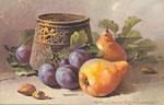 STZF 1295 [pot en laiton avec prunes et poires]