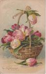 GOM 1255 Panier avec tulipes (vertical)