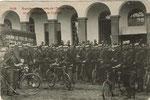 Ath De Blende 1909 Grandes manœuvres de l'Armée Belge Une Compagnie de Cyclistes