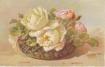 STZF 529 [panier de roses blanches et roses]
