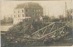 Ath Anonyme [photo-carte pont gayol détruit Chemin de fer 1914-18]