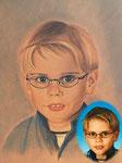 kinderportrait als farbige kreidezeichnung online bestellen