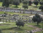 Ein Teil der Anlage vom antiken Messini, nur von oben.