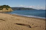 langer Strand beim Campingplatz