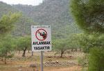 Naturschutzgebiet, bitte nicht schiessen