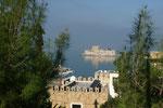 Blick auf die kleine Festungsinsel vor der Stadt