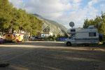 Camping Azilan hoch über der Stadt