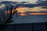 Sonnenuntergang an unserem Uebernachtungsplatz
