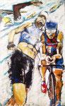 Le trio Ironman, huile de 48 x 30,