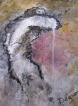 Honte : Acrylique sur papier roch, 16 X 12,