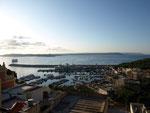 Erster Blick von unseren Balkon / Trotz Hafen sehr ruhig