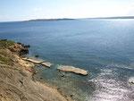 Von da oben haben wir dann auch unsere kleine Bucht entdeckt, do gehn ma mal no un gen Bade