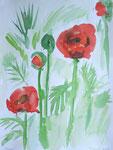 poppies, aquarell auf papier, 48x36 cm (in privatbesitz)