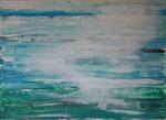 seeweg.sizilien, acryl+stift auf leinwand, 50x70 cm