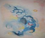 co2-perlen, acryl auf leinwand, 100x120 cm