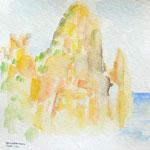 sardinien III, aquarell auf papier, 20x20cm