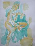 akt nr. 5, aquarell auf papier, 40x30 cm