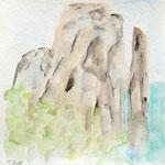 sardinien IV, aquarell auf papier, 20x20cm