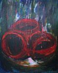 hexenkessel, acryl auf leinwand, 100x80 cm
