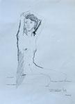 akt nr. 13, graphit+kohle auf papier, 40x30 cm