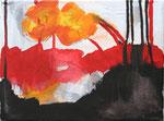 feuerblume, acryl+stift auf leinwand, 18x24 cm (in privatbesitz)