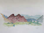 la xara (E), aquarell auf papier, 30x40 cm