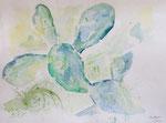 kaktus, la xara (E), aquarell auf papier, 40x30 cm