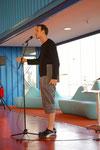 Rap-Poet Bas Böttcher im Hamburg Cruise Center
