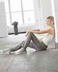 Damen-Jeans aus 53% Hanf, 42% Bio-Baumwolle und 5% Elasthan