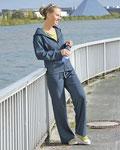Jogging - Anzug aus 55% Hanf und 45& Bio-Baumwolle