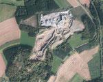 Im Jahr 2011 frisst sich der Abbau bereits in den verbliebenen Südwestteil (Quelle: LANIS Rheinland-Pfalz)