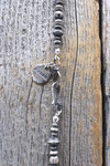COIN & SILVER BEADS NECKLACE , SILVER HOOK