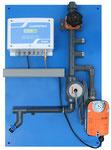 Automatische Absalzanlagen Wandtafel (standardisiert) für kleine und große Kühltürme, viele Sondervarianten, optional mit pH-Messung, Normsignalausgang für pH/Leitfähikeit und Temperatur