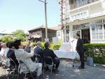 あいさつをする前田政満北海道理容組合理事長