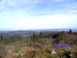 PA270016  Blick vom  Grossen Feldberg über den  Taunus nach Norden