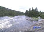 """P8190716  am Fluß bei Ånebjør/4745 Bygland Norwegen/Vestagder mein """"Land der rauschenden Wasser"""""""