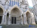 P4170253  Kathedrale von Chartres/Frankreich - Nordportal