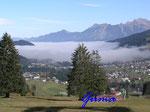 PA221460  im Kleinenwalsertal -  Blick auf Hirschegg vom Cafe Walserblick aus