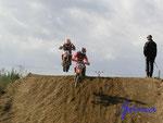 #3-32-32102) PositionskämpfeJunioren in  der 80er Klasse beim Moto Cross auf dem Uhlenköper-Ring bei Klein Prezier bei Uelzen