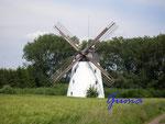 P5240364 Windmühle am Bungenstedter Turm bei Halchter/Wolfenbüttel  Holländermühle mit Kettenzug (Gaffelrad) und Segelflügeln, technische Ausstattung (um 1880) vollständig erhalten und betriebsfähig, gußeisernes Getriebe