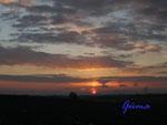 4-41-P1170001 Sonnenaufgang am 17. Januar 2006 von der Asse aus gesehen.